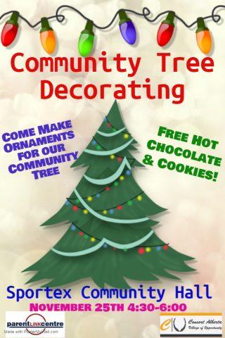 Decorate the Community Tree @ Consort Sportex
